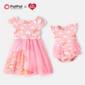 Care Bears Sisters Mesh Dress and Rainbow Bodysuits For Siblings