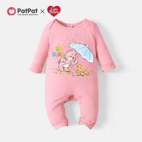 Care Bears Baby Girl Umbrella and Duck Cotton Jumpsuit