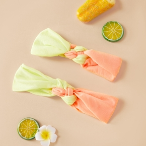 100% Modal Splice Color Headbands Sets for Mommy and Me