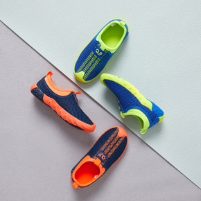 Color Block Slip-on Casual Shoes with Mesh Upper for Toddlers / Kids