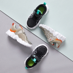 Color Block Fly Woven Leisure Shoes for Toddlers / Kids