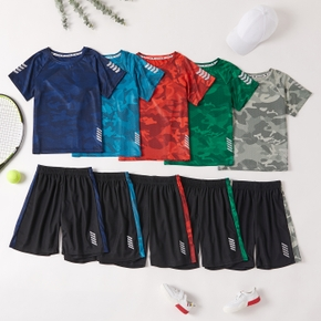 Camouflage Top and Shorts Set for Kids
