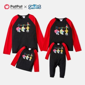 Smurfs Family Matching Fruits and Santa's Hat Tops and Romper