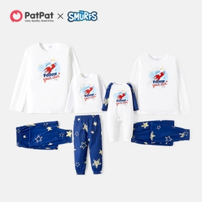 Smurfs Follow Your Heart Top and Stars Pants Family Matching Pajamas Set(Flame Resistant)