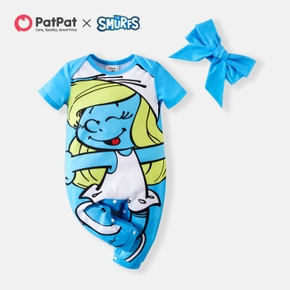 Smurfs Baby Girl Big Graphic Jumpsuit with Headband
