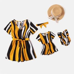 Stripe Short Sleeve Rompers for Mommy and Me
