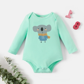 Baby Graphic White Long-sleeve Romper