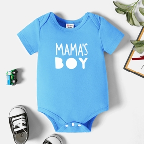 Baby Graphic Blue Short-sleeve Romper