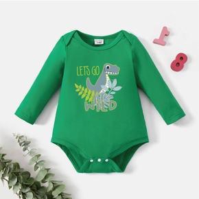 Baby Graphic Green Long-sleeve Romper