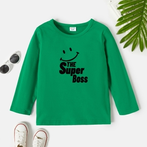 Toddler Graphic Green Long-sleeve Tee