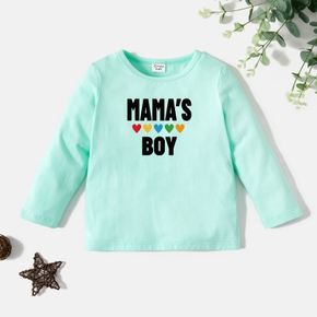 Toddler Graphic Light Green Long-sleeve Tee