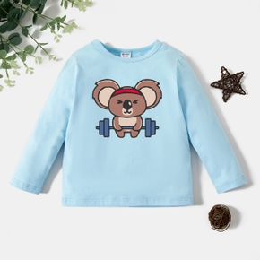 Toddler Graphic Light blue Long-sleeve Tee