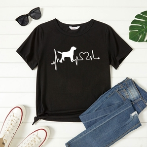 Graphic Ginger Short-sleeve Round-collar Tee for Women