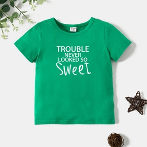 Toddler Graphic Green Short-sleeve Tee
