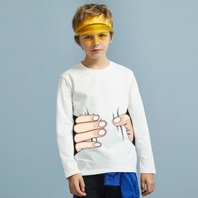 Kid Boy Finger Print (Multi Color Available) Casual Long-sleeve Top