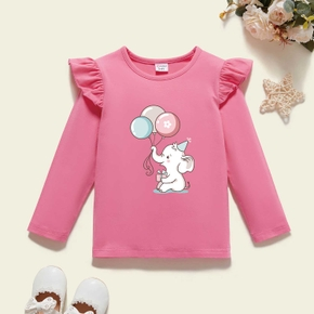 Toddler Graphic Flutter-sleeve Long-sleeve Tee