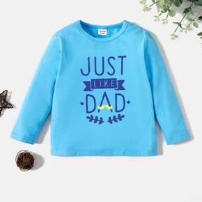 Toddler Graphic Blue Long-sleeve Tee