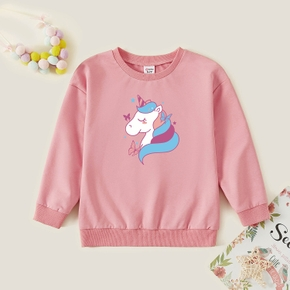 Kids Graphic Pink Long-sleeve Pullover