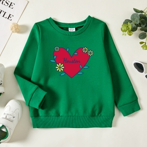 Toddler Graphic Green Long-sleeve Pullover