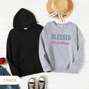 2-Pack Graphic Long-sleeve Pullover For Women