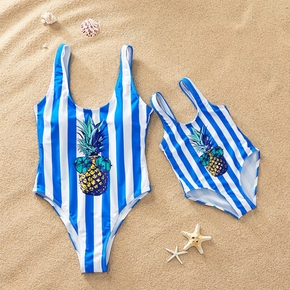 Pineapple Striped Swimsuit for Mom and Me