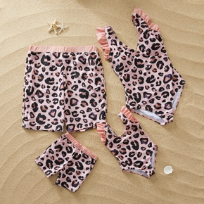 Special Leopard Matching Swimsuit for Family