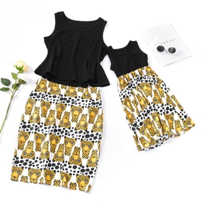 Leopard Matching Dress for Mommy and Me