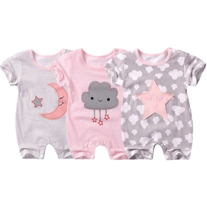Cute Stars Moon or Cloud Print Bodysuit for Baby