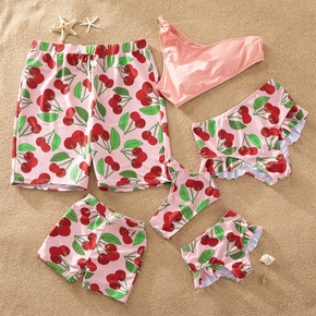 Cherry Print Family Swimsuits