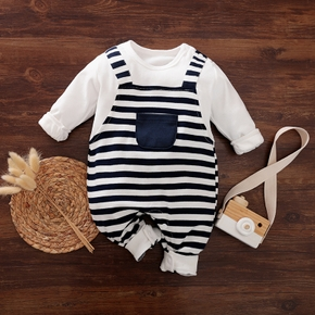 Baby Boy Stripe Long-sleeve Jumpsuit