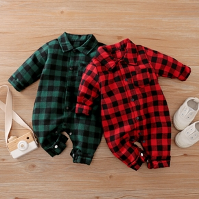 Baby Plaid Casual Jumpsuits