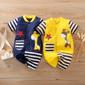 Baby Adorable Giraffe Striped Bodysuits