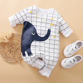 Baby Elephant Plaid Jumpsuit