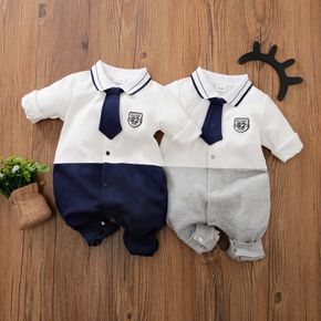 100% Cotton Long-sleeve Baby Onepiece Jumpsuit