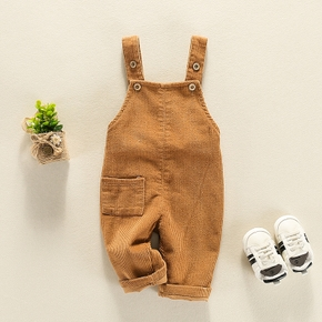 Cool Solid Pocket Overall for Baby
