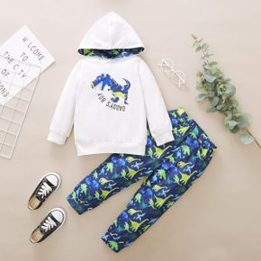 2-piece Baby / Toddler Dinosaur Hooded Top and Pants Set