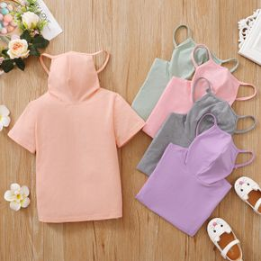 Toddler Girl casual Tee with Face Mask