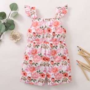 1pc Floral Print Sleeveless Polyester Summer More Festivals Pants Jumpsuits