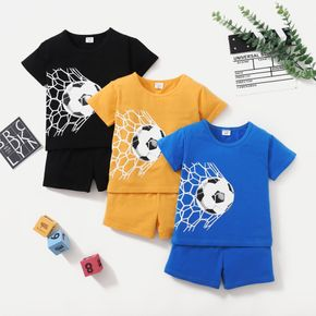 Football Print Top and Shorts Athletic Set for Toddlers / Kids