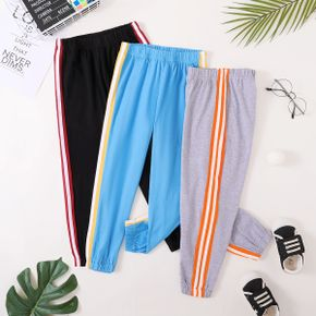 Color Contrast Athleisure Pants for Toddlers / Kids