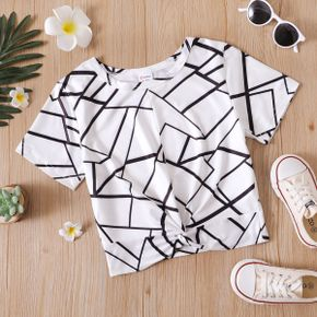 Geometric Print Athleisure Tee for Toddlers/Kids