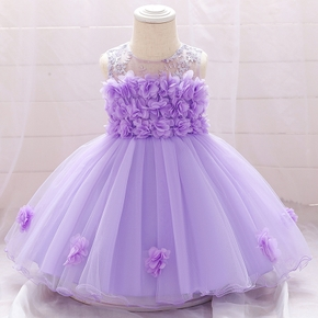 Toddler Girl Floral Mesh Princess Party Dress