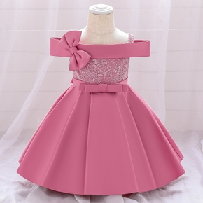 Toddler Girl Bowknot Lace Princess Party Dress