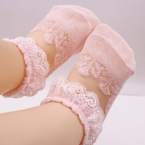 Baby-Spitze see-through Socke