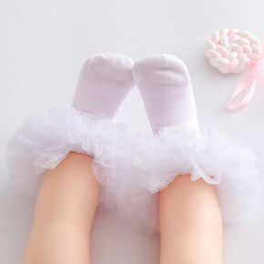 Baby / Toddler Girl Sweet Lace Decor Solid Dance Socks
