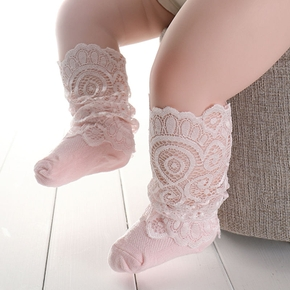 Baby Solid Lace Socks