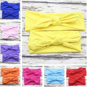 Solid Color Matching Headbands for Mommy and Me