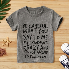 Baby Boy Casual Letter Print Top
