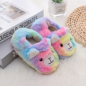 Toddler / Kid Cartoon Animal Colorful Fleece Slippers