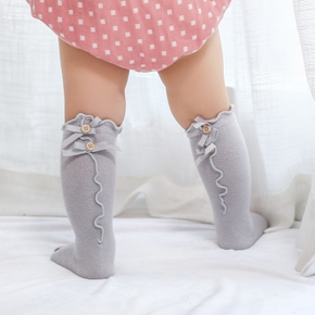 Baby / Toddler Solid Ruffled Bowknot Decor Stockings